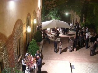 Courtyard in the evening