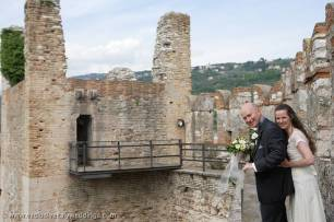 Castle wedding at Torri del Benaco, Lake Garda