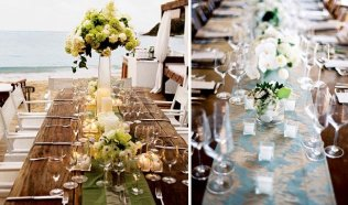 Beach table wedding decor
