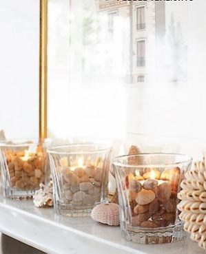 Tea-lights with pebbles- Source: allaboutyou.com