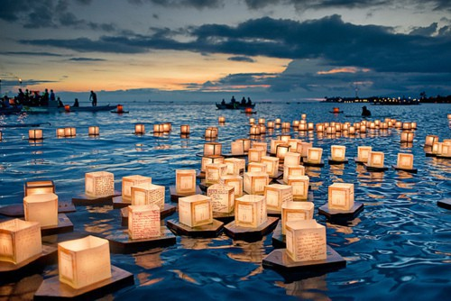 Chinese floating lanterns
