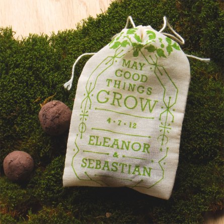 Seed sachet wedding favors