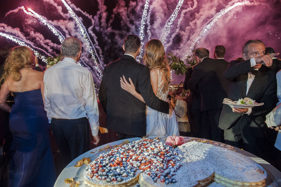 Cake Cutting with Fireworks