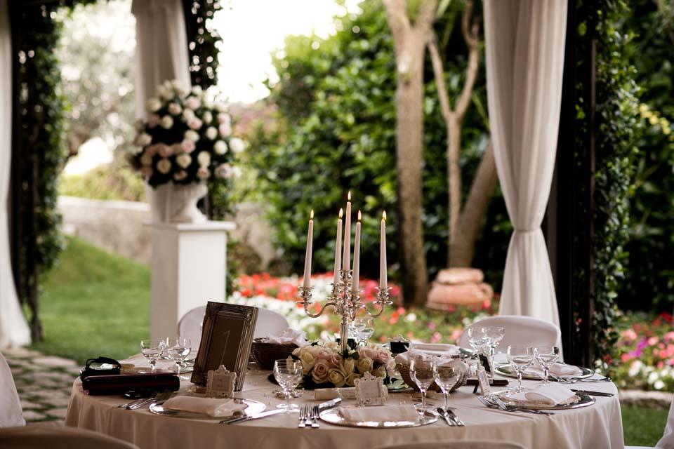 Wedding banquet at Villa Eva