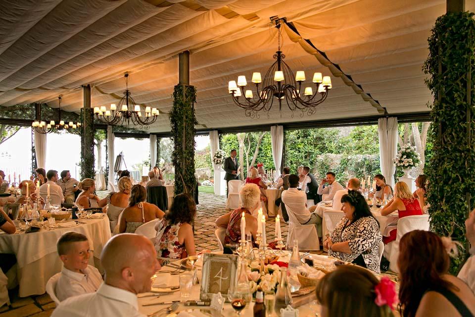Wedding dinner at Villa Eva