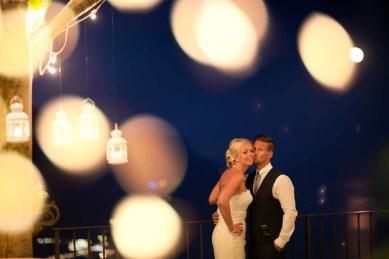 Bridal couple at Villa Eva