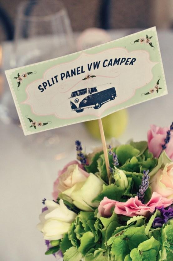 Fifties style wedding on the Amalfi Coast – Table card