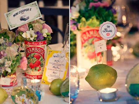 Fifties style wedding on the Amalfi Coast - Tablescape
