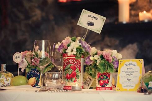 Fifties style wedding on the Amalfi Coast – Flower decorations