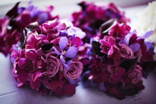 radiant orchid bridal bouquet