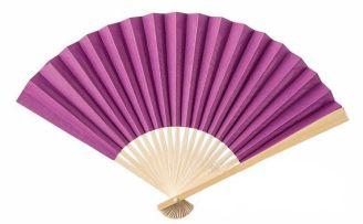 radiant orchid paper fans