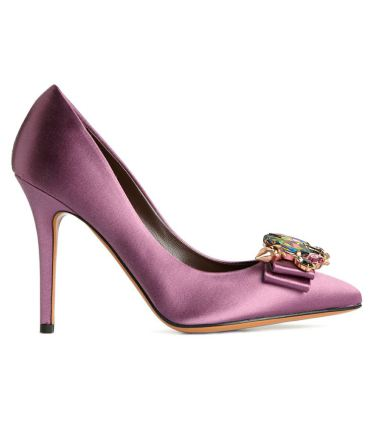 radiant orchid satin shoes