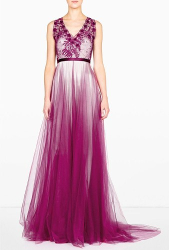 radiant orchid tulle dress