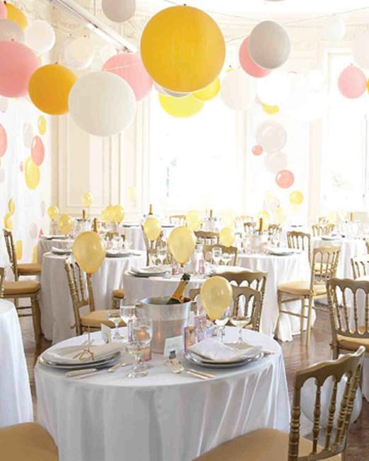 Balloon garland for wedding reception
