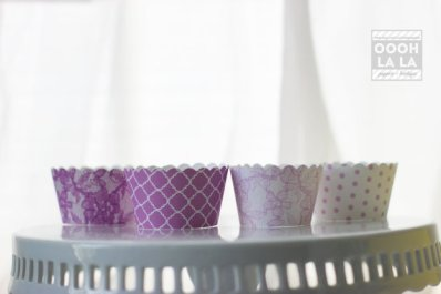 radiant orchid cupcake wrappers