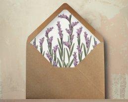 radiant orchid wedding envelope