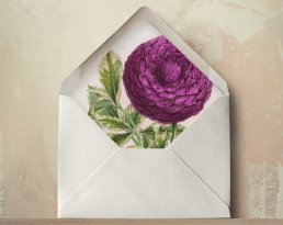 radiant orchid wedding envelope