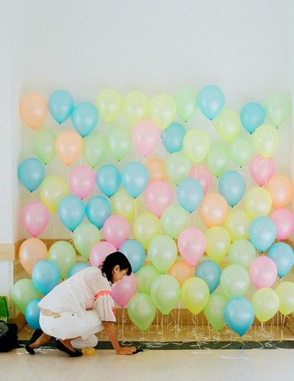Pastel balloons backdrop