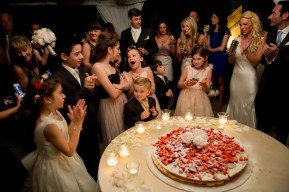 Wedding Cake with fresh strawberries