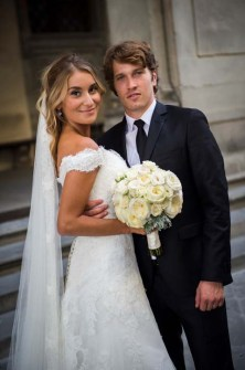 Bridal couple getting married in Florence