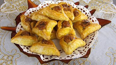"""Hamantaschen"" are the traditional sweets for the holiday of Purim."