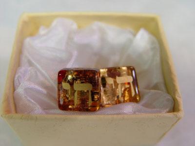 Murano glass cufflinks