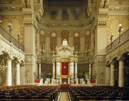 Interior of the Great Synagogue in Rome