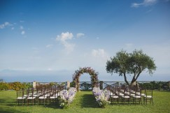 Ceremony setup with seaview on the Amalfi Coast