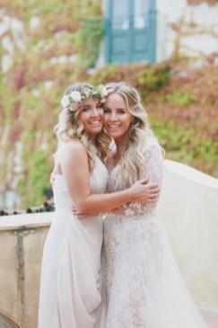 Bride and bridesmaid (sister of the bride) Amalfi Coast wedding