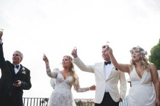 Toast for a wedding on the Amalfi Coast