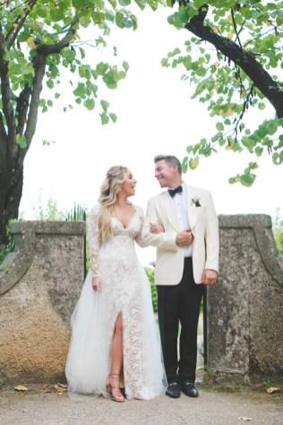 Bride and groom, villa wedding on the Amalfi Coast