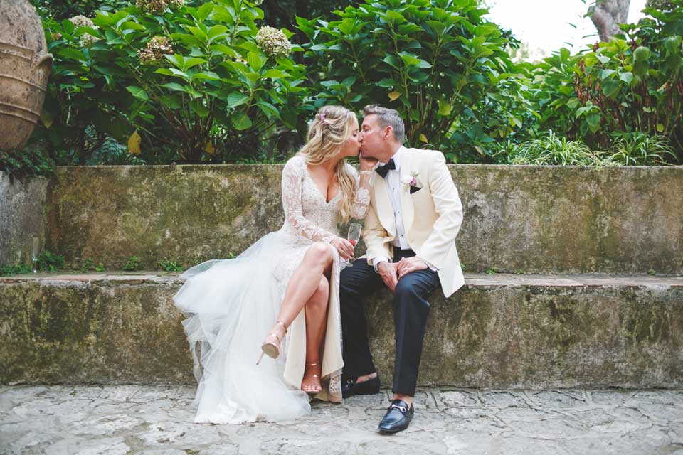 Bridal couple, villa wedding on the Amalfi Coast