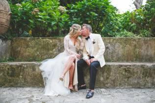 Bridal couple, villa wedding on the Amalfi Coast