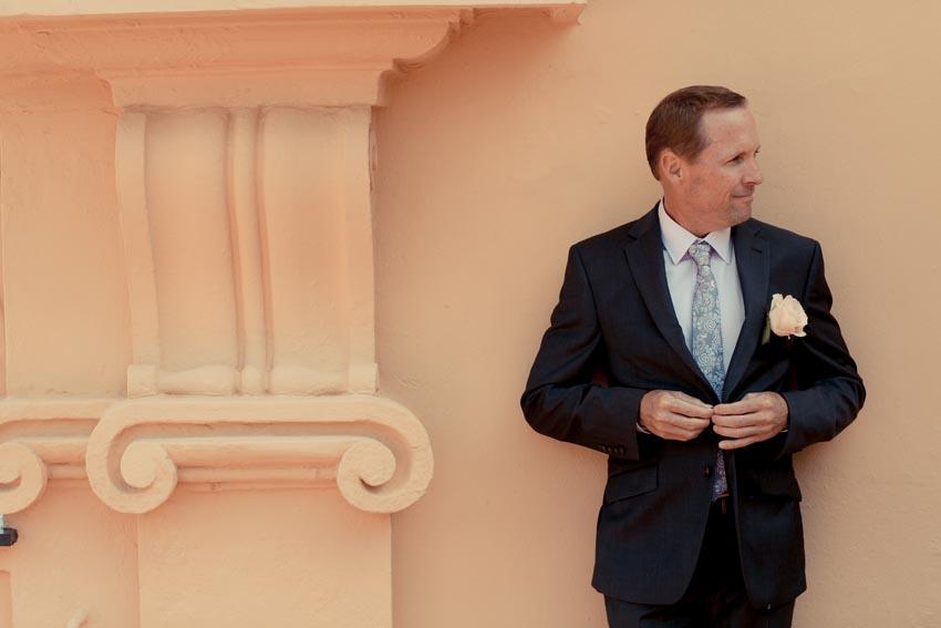Portrait of the groom at Villa Durazzo