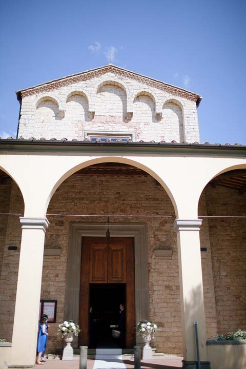 Ancient church in Tuscany