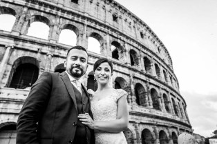 Adriana and Hector getting married in Rome