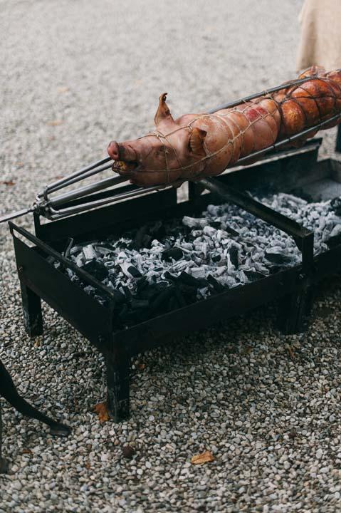 Roasted pork for Tuscany wedding
