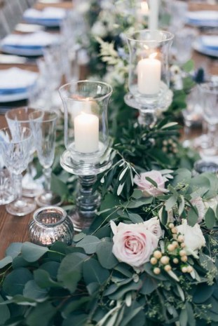 Country chic floral decorations