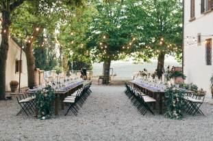 Wedding reception at Villa Vistarenni
