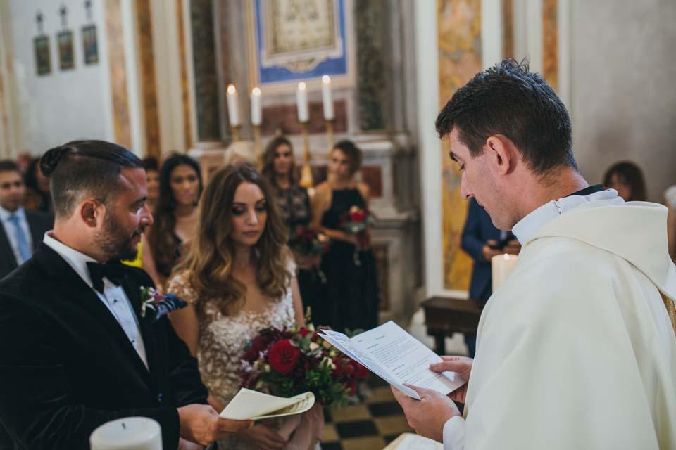 Catholic ceremony in Tuscan church