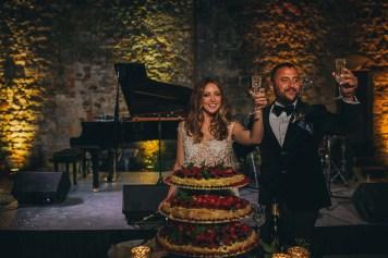 Wedding toast at Modanella castle