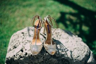 Destination wedding Amalfi Coast: bridal shoes