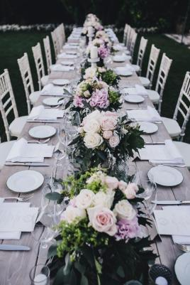 Long table for Hotel Caruso wedding