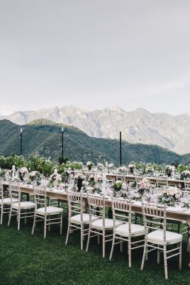 Wedding reception in the gardens of Hotel Caruso