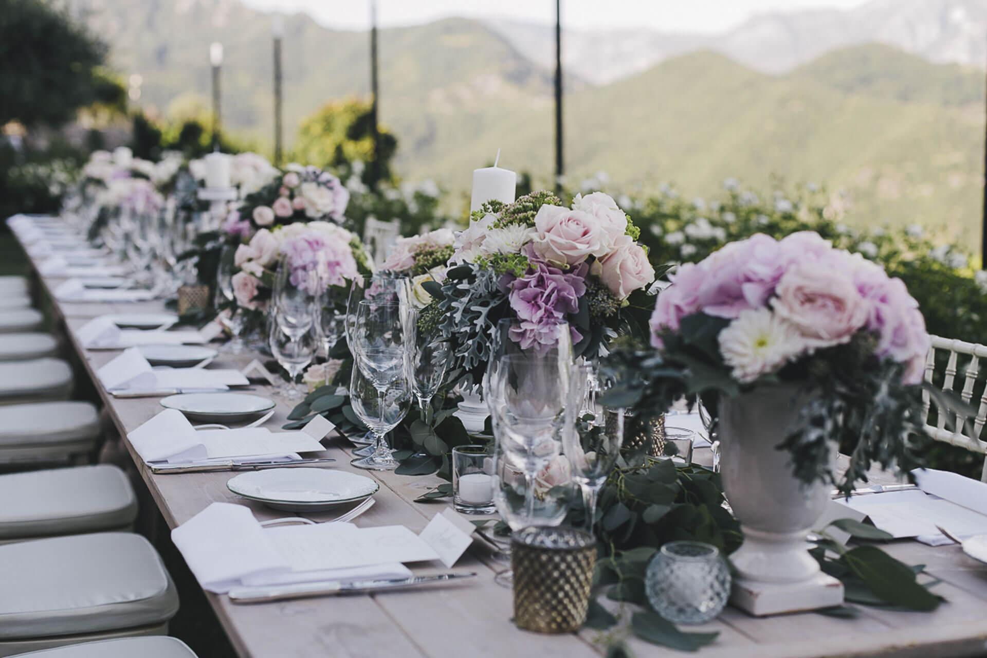 Banquet for Destination Wedding in Ravello