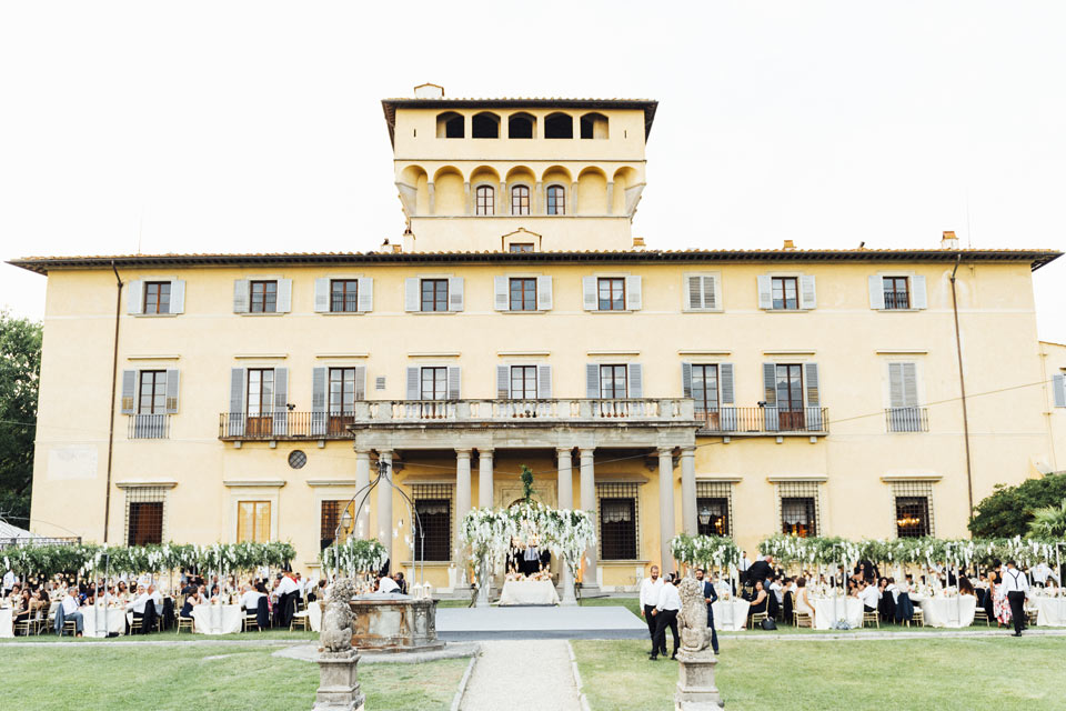 Wedding reception at Villa di Maiano