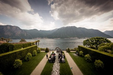 Outdoor Wedding Ceremony on Lake Como