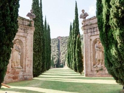 Sculptures in the gardens of Villa Cetinale