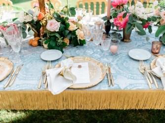 Table setting for Tuscany wedding