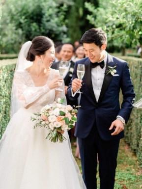 Wedding toast at a Tuscany wedding